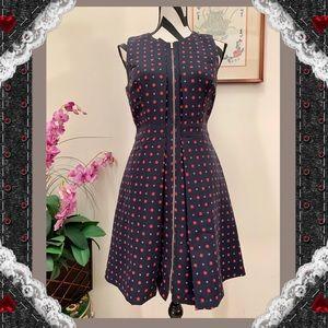 Tommy Hilfiger Print Full Zip Pleated Dress